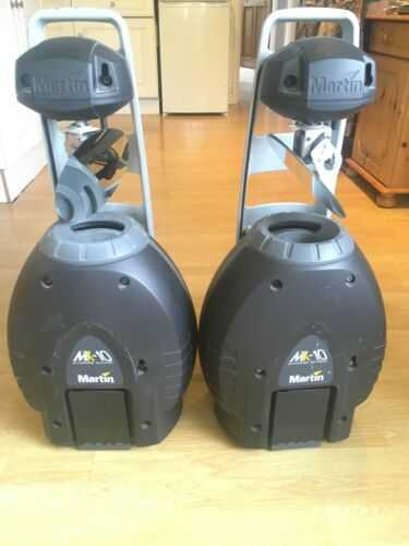 PAIR Martin MX-10 Extreme, Martin mac, moving lights, stage lighting, dj
