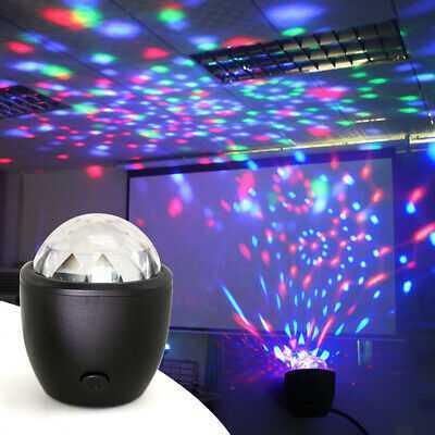 Mini Stage Magic Disco Ball Lamp Effect Rotating Party DJ Lazer LED Light