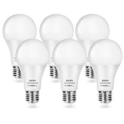 ZIKEY LED Light Bulb E27, 12W A65 Edison Screw Bulbs (Equivalent to 100W), 11...
