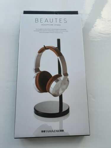 Black Metal Headphone Stand