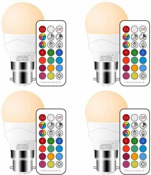 Jayool B22 Colour Changing Light Bulb with Bayonet + Warm White(2700K)