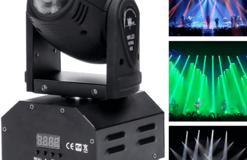 Moving Head Stage Beam Light, UKing LED Spotlight RGBW 10W 11/13CH Voice-activat