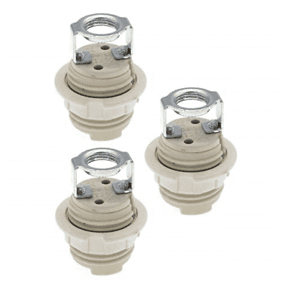G9 Lamp Holders with Bracket,Pack of 3 G9 Threaded Ceramic Halogen Socket with