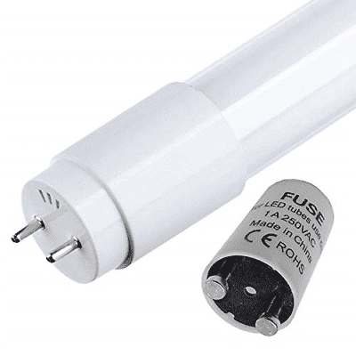 Pack of 2 LED Tube 120 cm, 18 W Cool White 6500K 1800 Lumens LED Primer Included