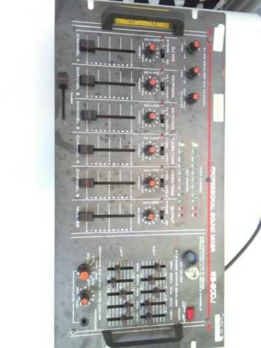 VISION PROFESSIONAL SOUND MIXER 1990'S VINTAGE DJ Model WS-90DJ UNTESTED