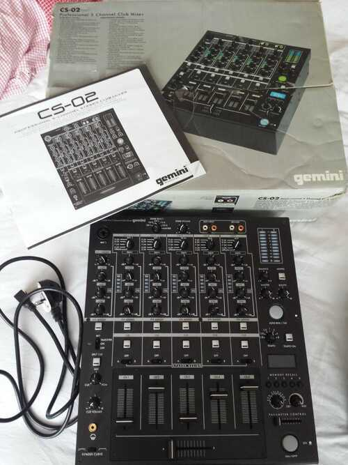 GEMINI CS-02 Professional 5-channel stereo club mixer