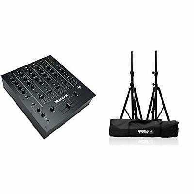 M6 USB - 4-Channel DJ Mixer with On-Board Audio Interface, 3-Band EQ,
