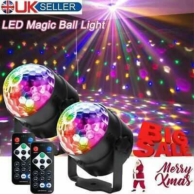 2pcs Disco Light LED Magic Ball Light KTV RGB Rotating Disco Party DJ Xmas Light