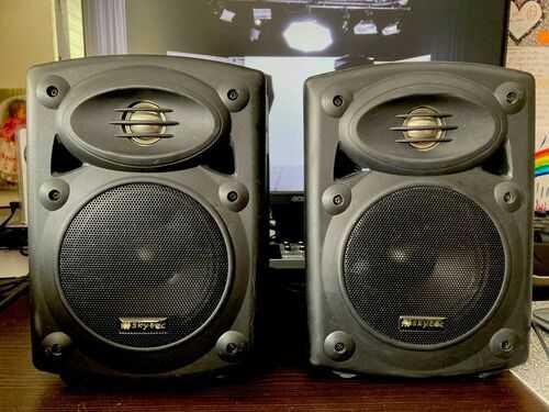 Skytec QR5B active powered amp 2x studio monitors DJ use QTX high end speakers