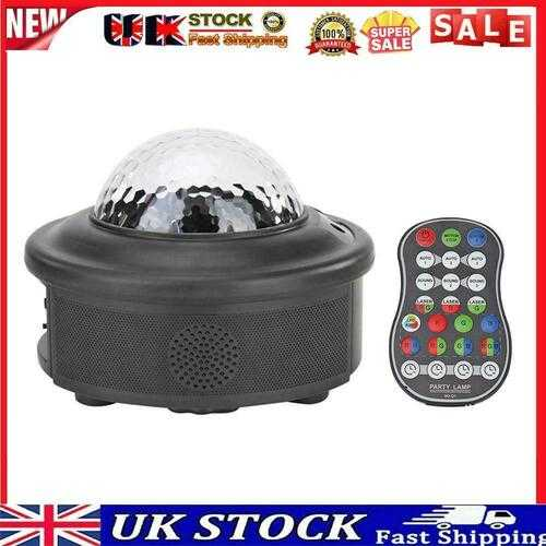 LED Magic Ball Lamp Voice Control Halloween Stage Effect Projector (UK)