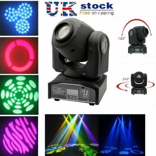 30W Stage Lighting RGBW  LED Gobos Moving Head Lights DMX DJ Disco Party Light