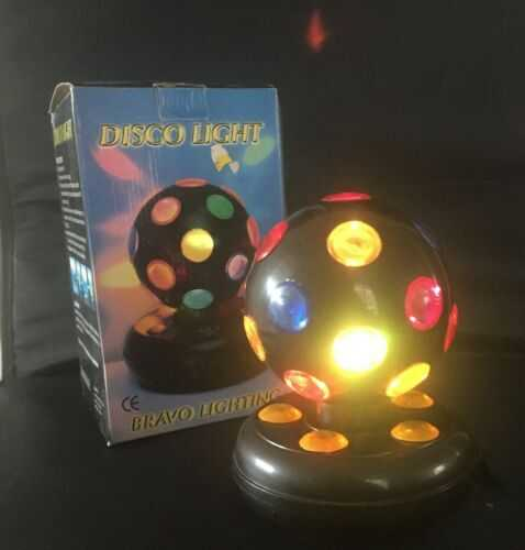 RETRO BRAVO ROTATING  DISCO BALL WITH MAINS ADAPTER BOXED