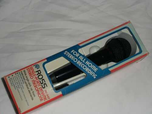 Ross RE-342 single-point Dynamic Stereo Microphone. In original box.