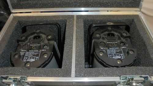 Showtec  Dj LED Scanner Lighting Effect DMX  x2 c/w flight case and manual